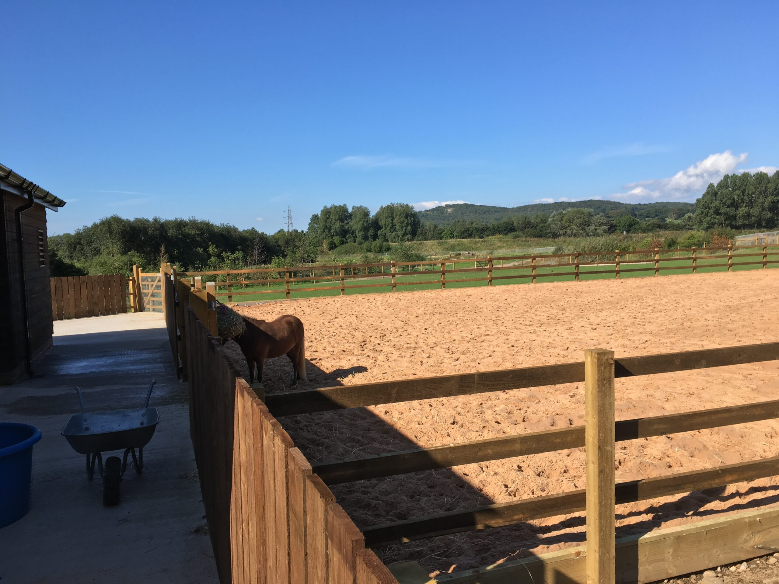 Construction of new-build stables and outbuildings