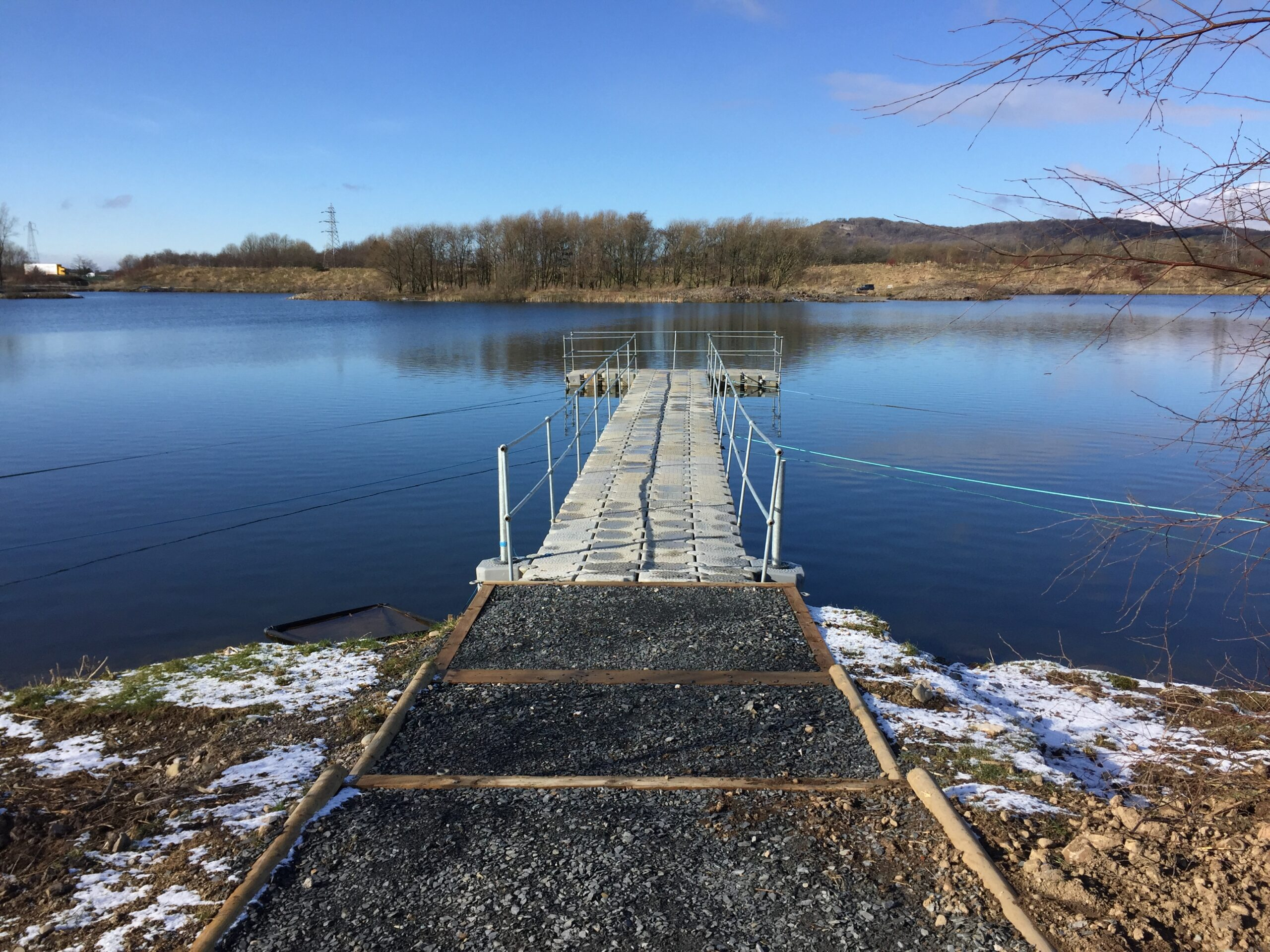Reconfiguration of existing fishing lakes